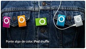 nuevos Apple ipods shuffle en colores